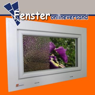 Akf kunststoffkellerfenster wei mit ornamentverglasung isolierglas 24 mm ug 1 1 w m k 82 - Kellerfenster mit katzenklappe ...