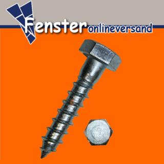 50 DIN 571 Sechskant-Holzschrauben galv verzinkt 8 x 40 mm St/ück