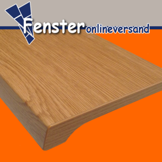 Werzalit Fensterbank Exclusiv Eiche Hell - Tiefe: 100 mm